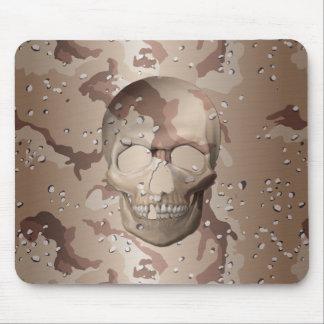 3D Desert Camo Skull Mouse Pad