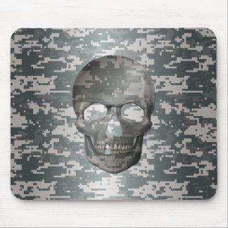 3D Digital Camo Skull Mouse Pad