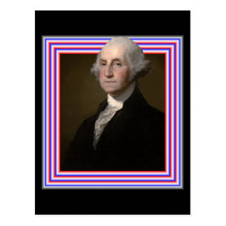 3D GEORGE WASHINGTON POSTCARD