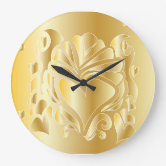 3D GOLD ANNIVERSARY ROMANTIC GIFT WALL CLOCK