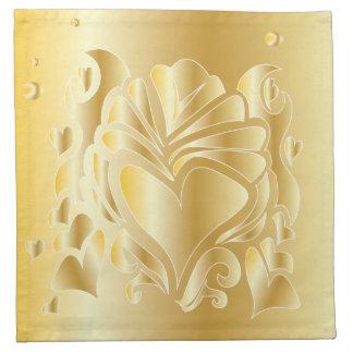 3D GOLD CELEBRATION ANNIVERSARY ROMANTIC NAPKIN