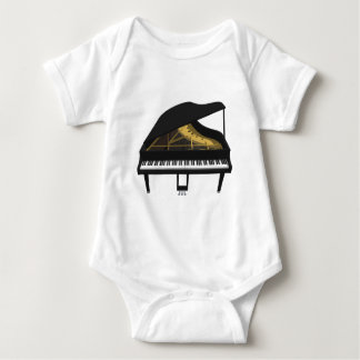3D Model: Black Grand Piano: Baby Bodysuit
