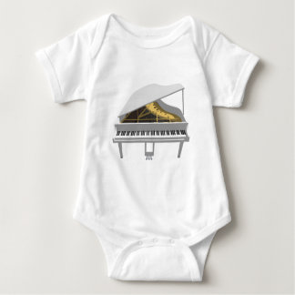 3D Model: White Grand Piano: Baby Bodysuit