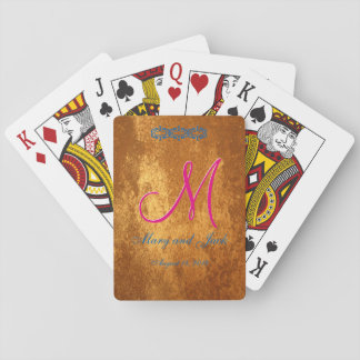 3d Monogram Bronze Amber Playing Cards