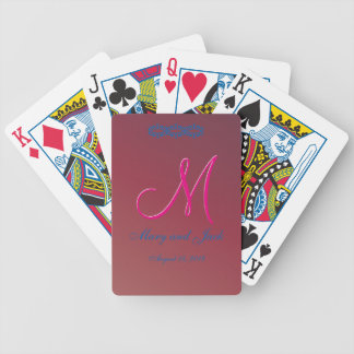 3d Monogram Crimson Gradient Bicycle Playing Cards