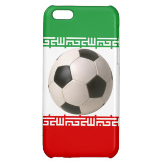 3D soccer ball on red, green and white Iranian fla iPhone 5C Covers
