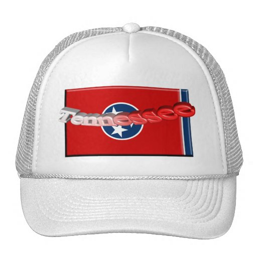 3D Tennessee State Flag Mesh Hats