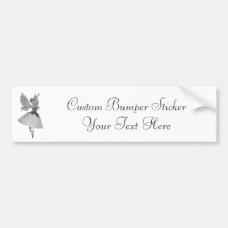3D Toy Ballerina Black & White Infrared Bumper Sticker