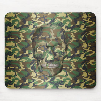 3D Woodland Camo Skull Mouse Pad