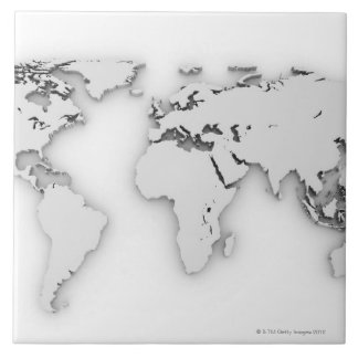 3D World map, computer generated image Tile