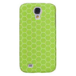 3G Acid Green Honeycomb Pern  Galaxy S4 Case