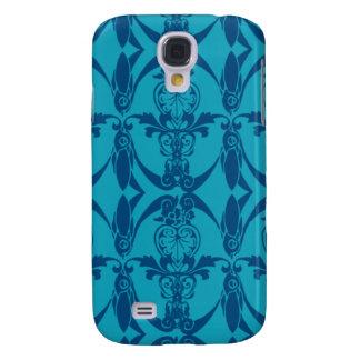 3G Blue Damask Pern  Galaxy S4 Case