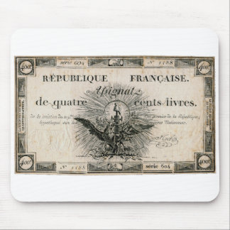400 Livres French Revolution Assignat Bank Note Mouse Pad