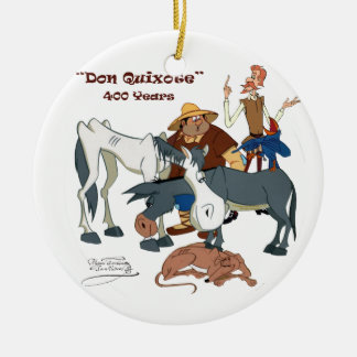 400 Years Don Quixote @QUIXOTEdotTV Round Ceramic Decoration