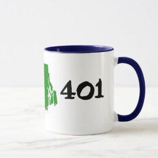 401, area code of Rhode Island! Mug