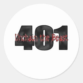 401 Nailhead Wildcat Buick Beast Classic Round Sticker