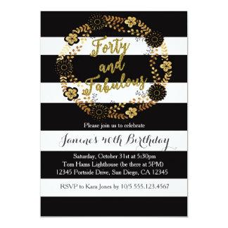 40 and Fabulous 40th Birthday Invitation