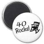 40 Rocks (Black Rocking Chair) Refrigerator Magnets