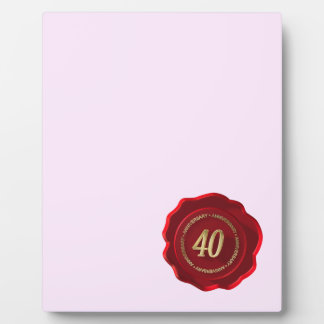 40th anniversary red wax seal plaques