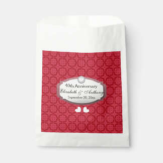 40th Anniversary Wedding Anniversary Ruby Red Z06 Favour Bags