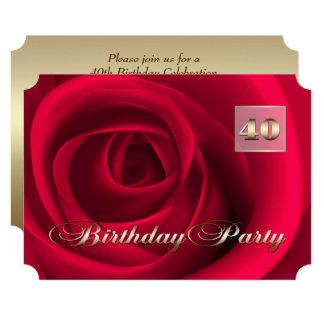 40th Birthday Celebration Custom Invitations