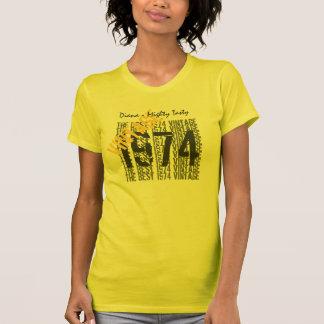 40th Birthday Gift Best 1974 Vintage Diagonal 012 T-Shirt