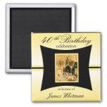 40th Birthday Party Favour/Souvenier Magnet