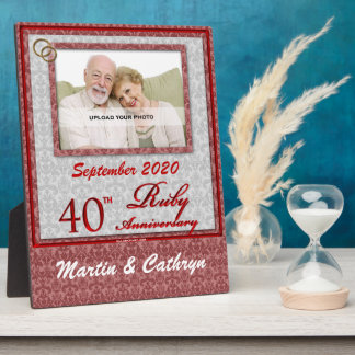 40th Ruby Anniversary Photo Plaque