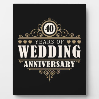 40th Wedding Anniversary Plaque