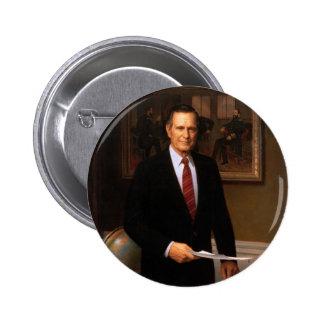 41 George H. W. Bush 6 Cm Round Badge