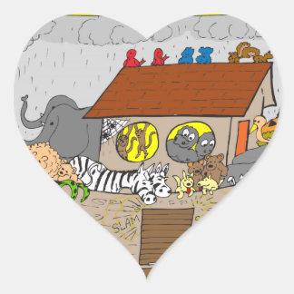 429 Youre gay better tell noah cartoon Heart Sticker