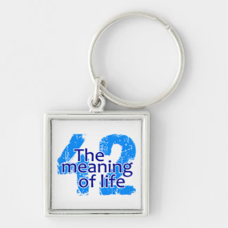 42 Meaning of Life key chain