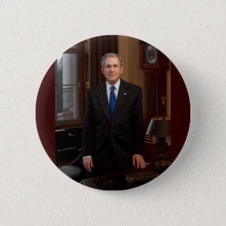 43 George W. Bush 6 Cm Round Badge