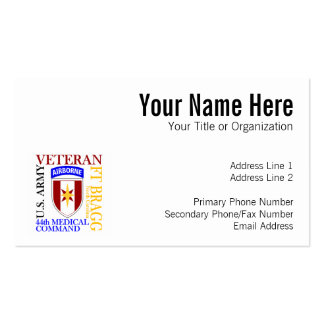 44th MEDCOM - Fort Bragg Pack Of Standard Business Cards