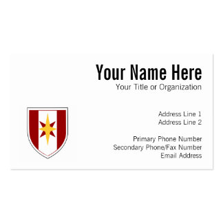 44th Medical Brigade Patch Pack Of Standard Business Cards