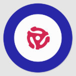 45rpm Mod Target T-Shirt Round Stickers