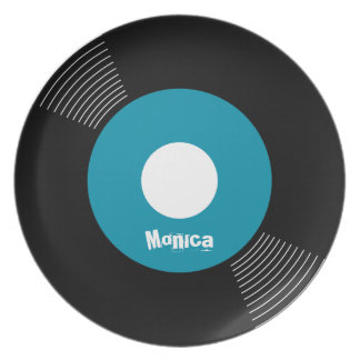 45s Record Plate (Teal) CUSTOMIZABLE