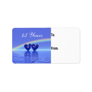 45th Anniversary Sapphire Hearts Gift Tag