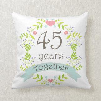 45th Wedding Anniversary Gift Throw PIllow