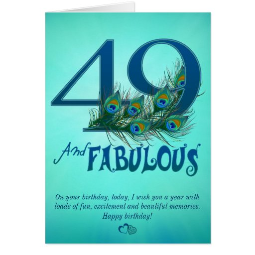 49th Birthday template Cards