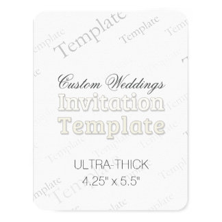 "4.25"" x 5.5"" Ultra Thick Custom Wedding Invitation"
