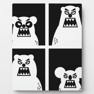 4 Angry Bears Plaque