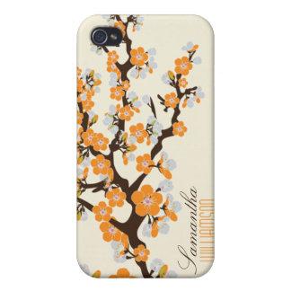4 Cherry Blossom (orange) Case For iPhone 4