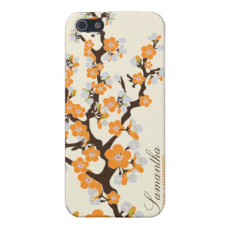 4 Cherry Blossom (orange) iPhone 5/5S Cover