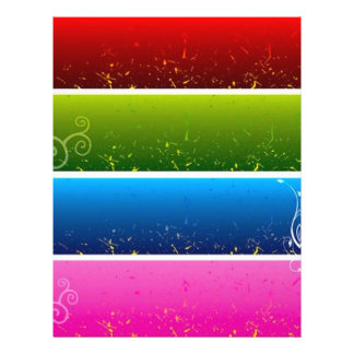 4 Free Vector Floral Background Banners 21.5 Cm X 28 Cm Flyer