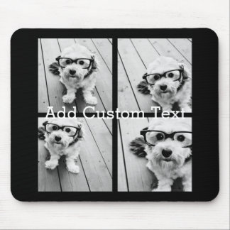 4 Photo Collage - you can change background colour Mouse Pad