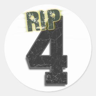 4 RIP Brett Favre Funeral Sticker decal