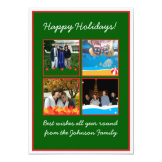 4 Seasons Photo Frames Happy Holidays Card