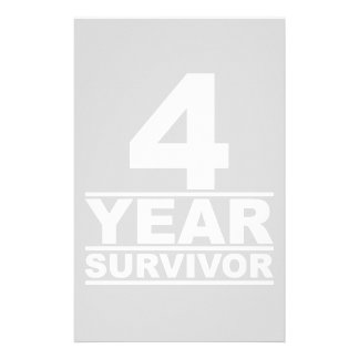 4 year survivor stationery