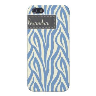 4 Zebra Pern (periwinkle) iPhone 5 Case